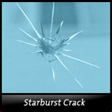 Starburst Windshield Crack